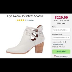 Frye Shoes - Frye Naomi Leather PicStitch Shootie